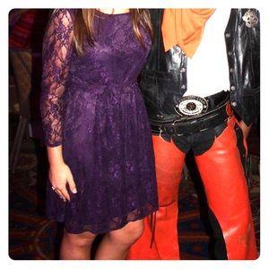 Gabriella Rocha purple 3/4 sleeve lace dress
